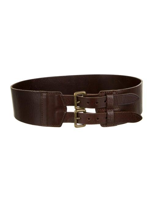 Theory Leather Waist Belt gold