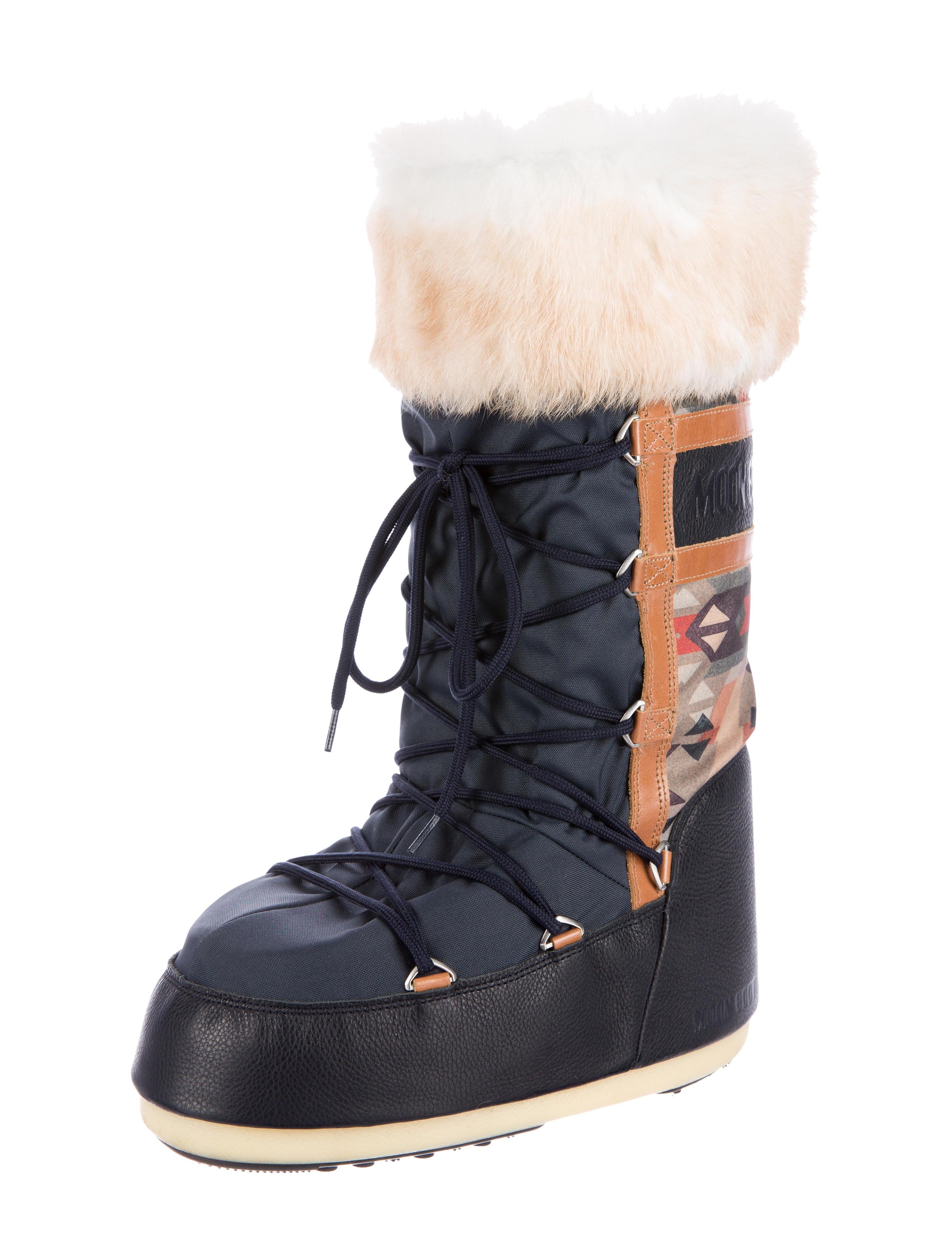tecnica fur trimmed moon boots shoes wtecn20005 the. Black Bedroom Furniture Sets. Home Design Ideas