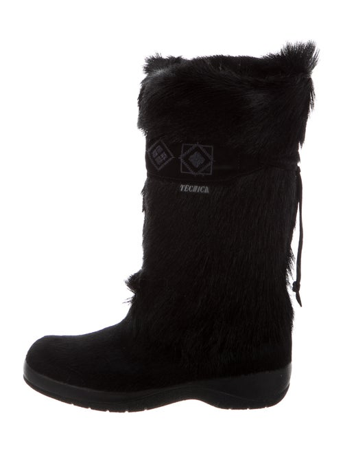 Tecnica Calf Hair Snow Boots Black