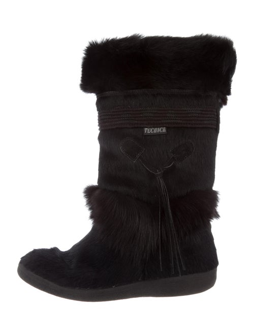 Tecnica Calf Hair Boots Black