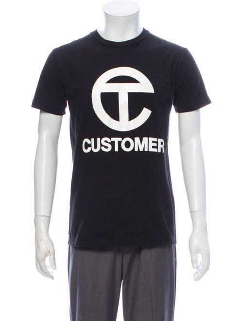 Telfar Graphic Print Crew Neck T-Shirt Black