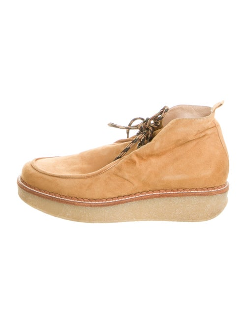 Telfar Suede Lace-Up Boots