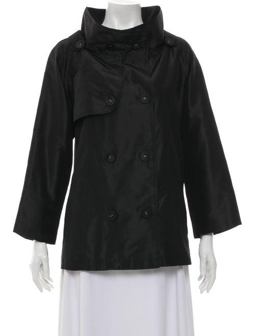 Teri Jon Mock Neck Long Sleeve Jacket Black