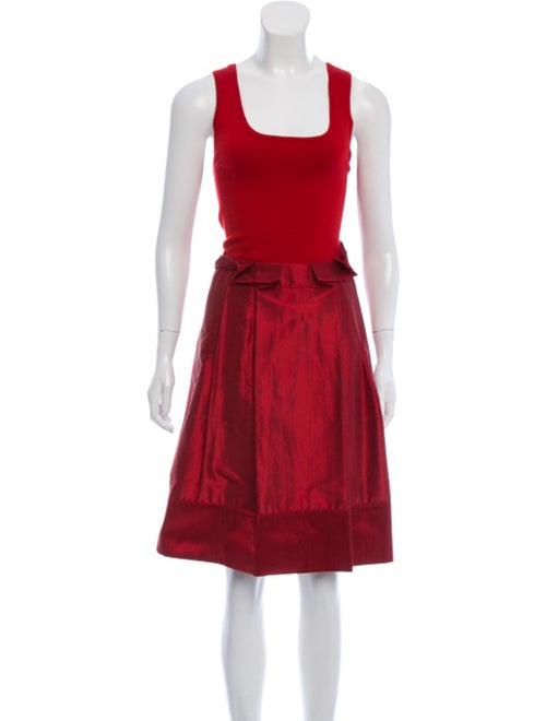 Teri Jon Wool Knee-Length Dress Wool