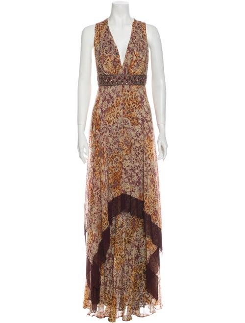 Teri Jon Silk Long Dress