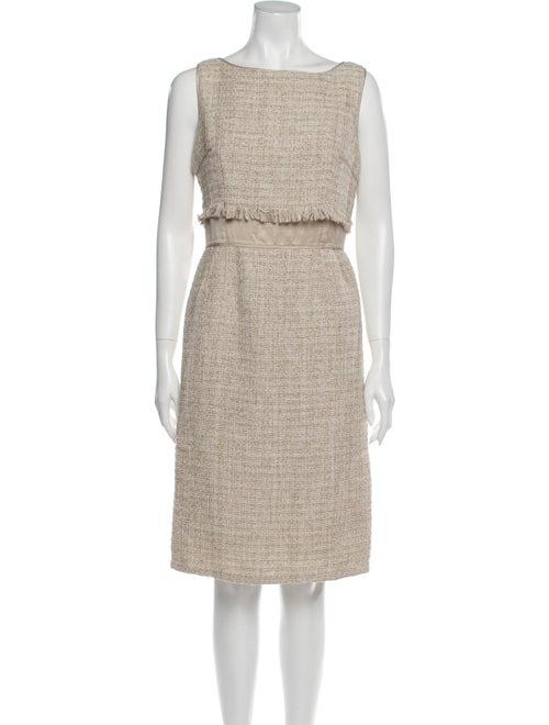 Teri Jon Bateau Neckline Knee-Length Dress