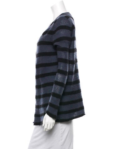 Cashmere Striped Cardigan