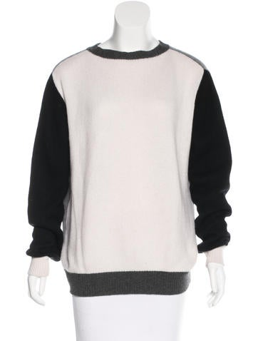 The Elder Statesman Cashmere Colorblock Sweater None