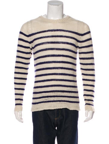 The Elder Statesman Striped Cashmere Sweater w/ Tags None