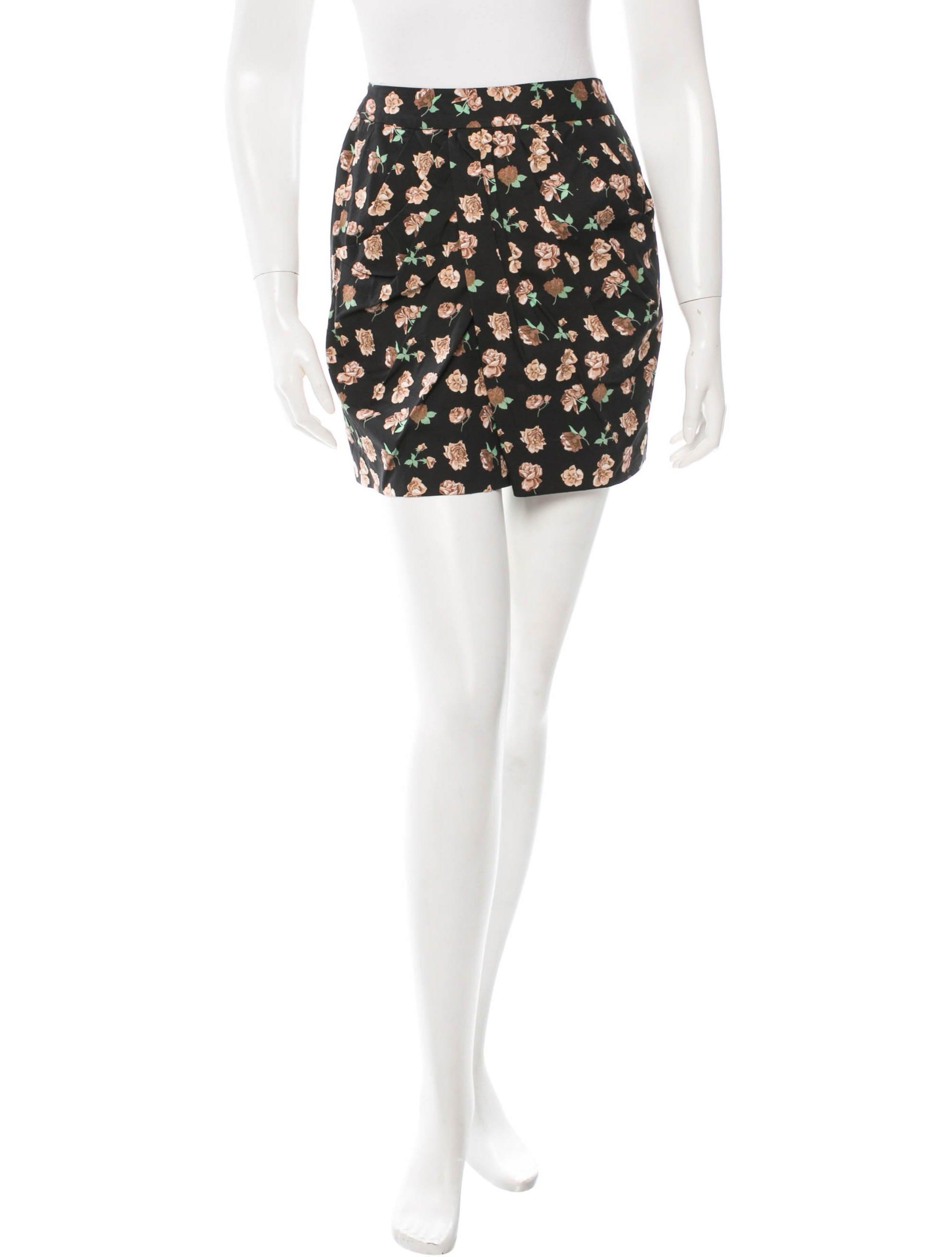 Floral Print Mini Skirt 110