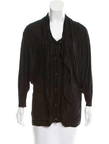 Thakoon Long Sleeve Button-Up Cardigan