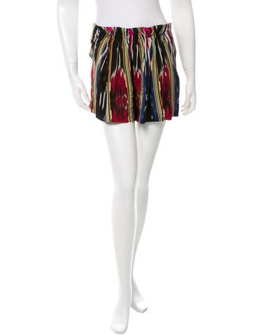 Thakoon Printed Silk Shorts