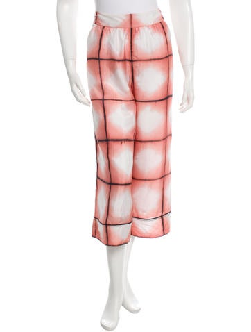 Thakoon Silk Printed Culottes w/ Tags None
