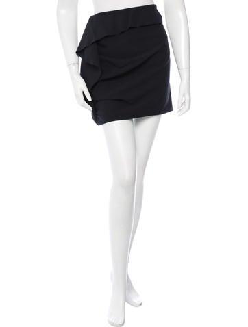 Thakoon Wool Ruffled Skirt None