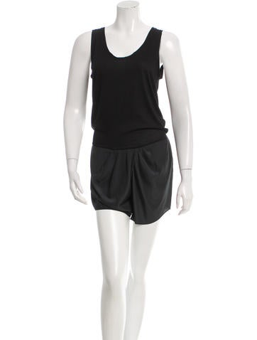 Thakoon Sleeveless Scoop Neck Romper None