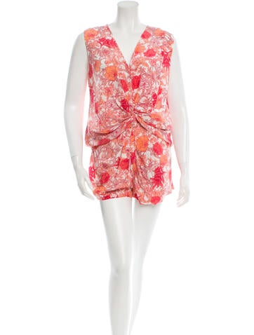 Thakoon Silk Printed Romper None