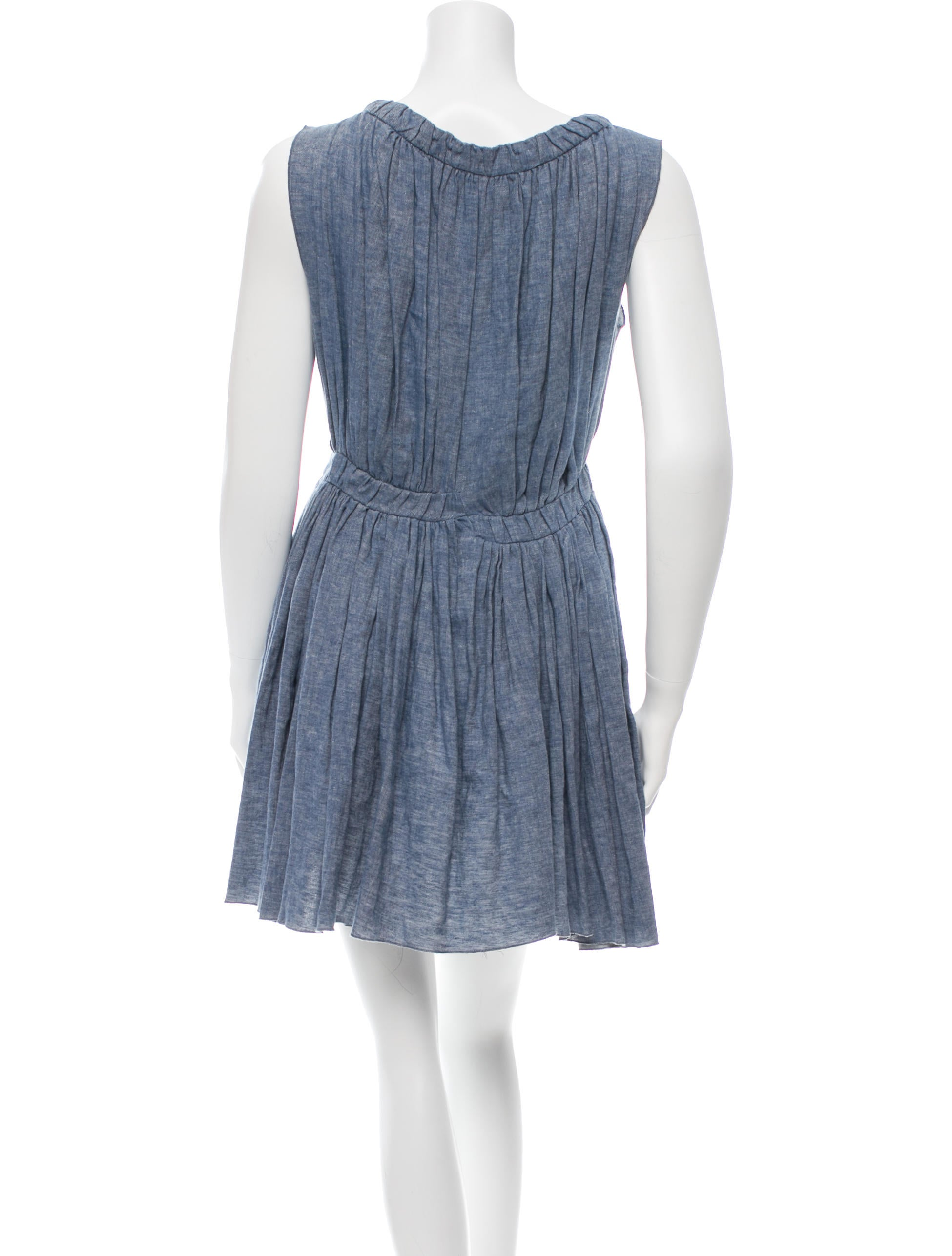 Thakoon sleeveless chambray dress clothing wthak24063 for Chambray dress