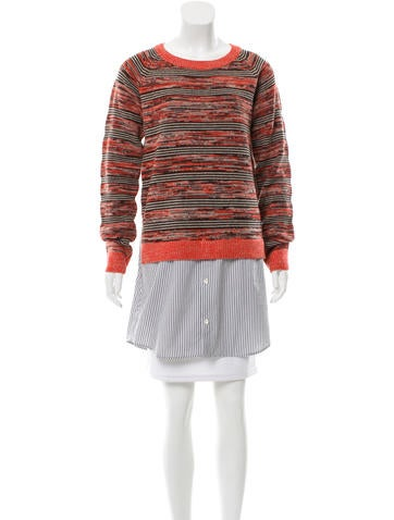 Thakoon Wool Contrast Sweater None