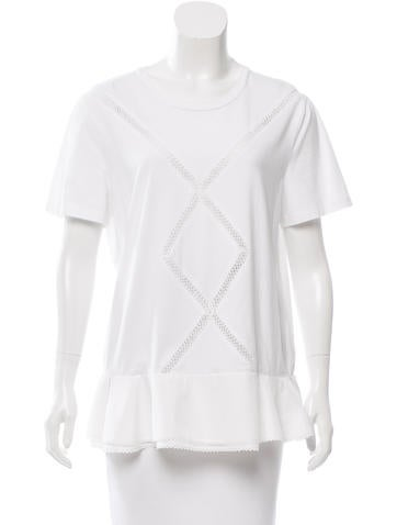 Thakoon Short Sleeve Embroidered Top None
