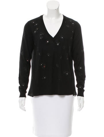 Thakoon Embroidered Wool Sweater None