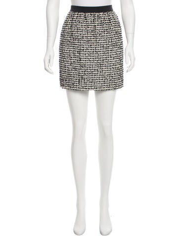 Thakoon Wool Fil-coupé Skirt None