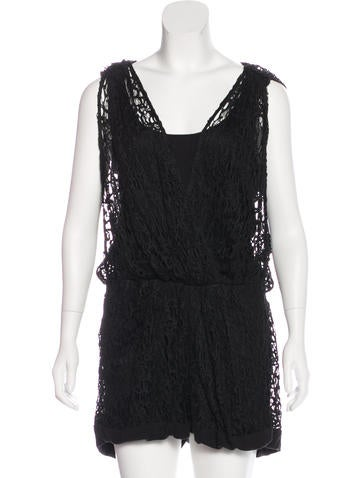 Thakoon Sleeveless Lace Romper None