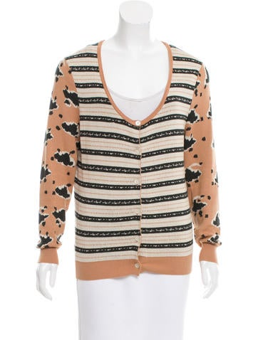Thakoon Patterned Button-Up Sweater None