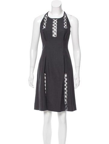 Thakoon Wool Paneled Dress None