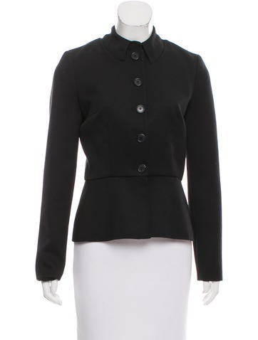 Thakoon Bow-Accented Wool Jacket None