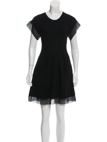 Thakoon Sheer-Trimmed Mini Dress None