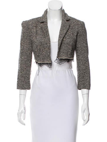 Thakoon Cropped Wool Jacket None