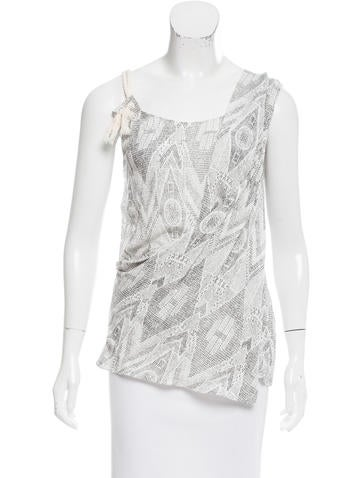 Thakoon Printed Draped Top w/ Tags None