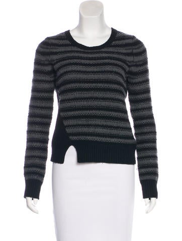 Thakoon Wool & Cashmere Striped Sweater None