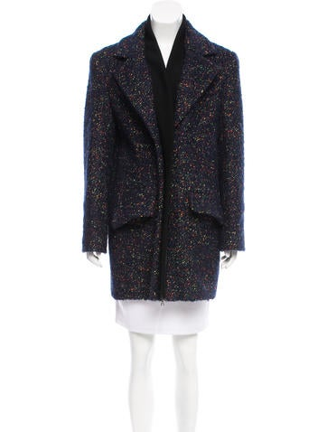 Thakoon Notch-Lapel Tweed Coat None