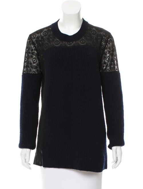 Thakoon Wool Lace Sweater Navy