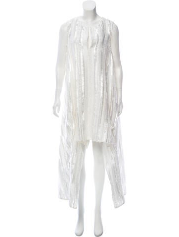 Thakoon Fringe-Trimmed High-Low Dress None