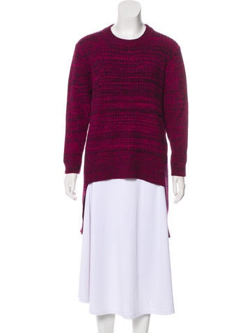 Thakoon High-Low Knit Sweater None