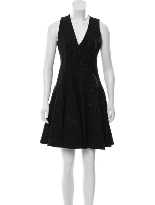 Thakoon Sleeveless A-Line Dress Black