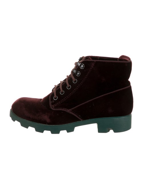 Thakoon Lace-Up Boots Red