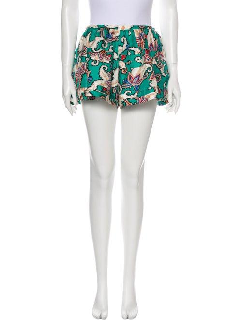 Thakoon Silk Mini Shorts Green
