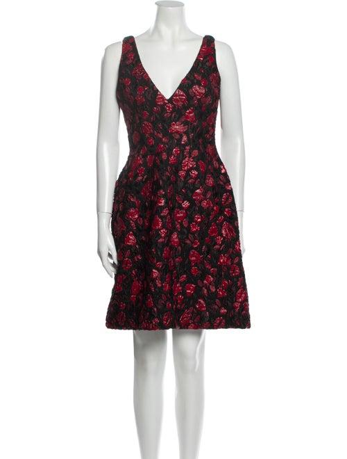 Thakoon Floral Print Mini Dress Red