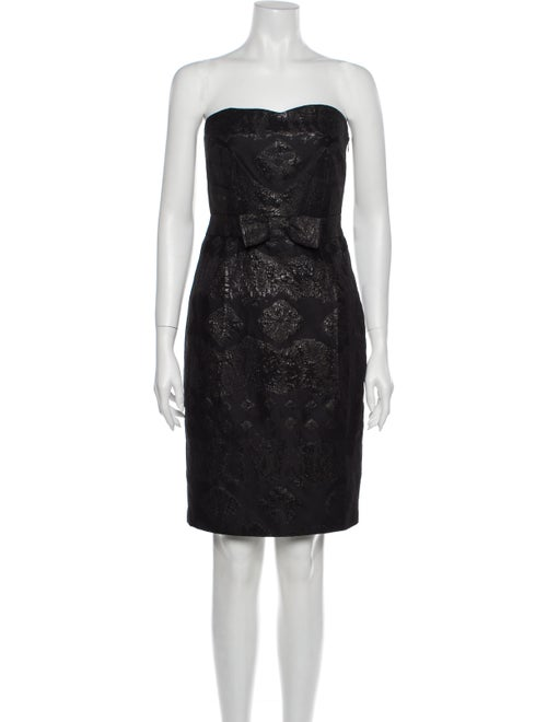 Thakoon Strapless Mini Dress Black