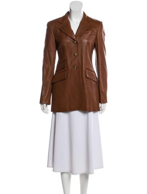 Wathne Leather Blazer Brown