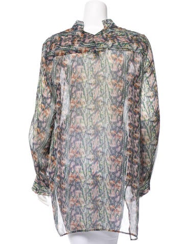 Theory Printed Silk Blouse 120