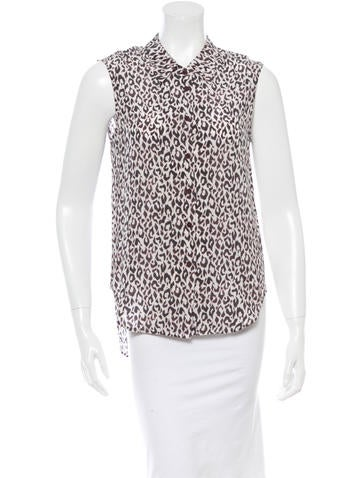 Theyskens' Theory Leopard Print Silk Top None