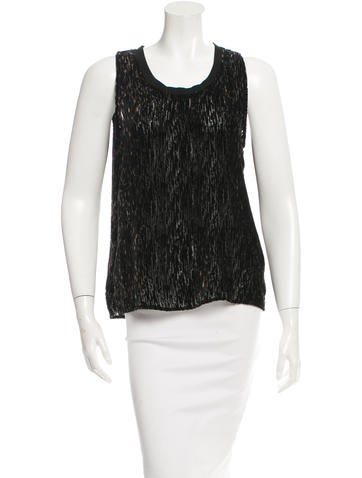 Theyskens' Theory Sleeveless Scoop Neck Top None