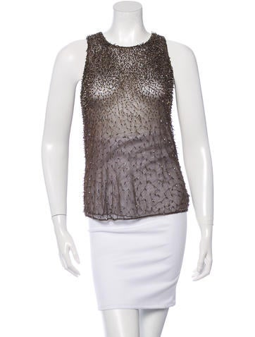 Theyskens' Theory Embellished Tulle Top None