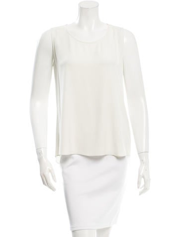 Theyskens' Theory Silk Sleeveless Top None