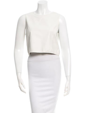 Theyskens' Theory Leather Crop Top None