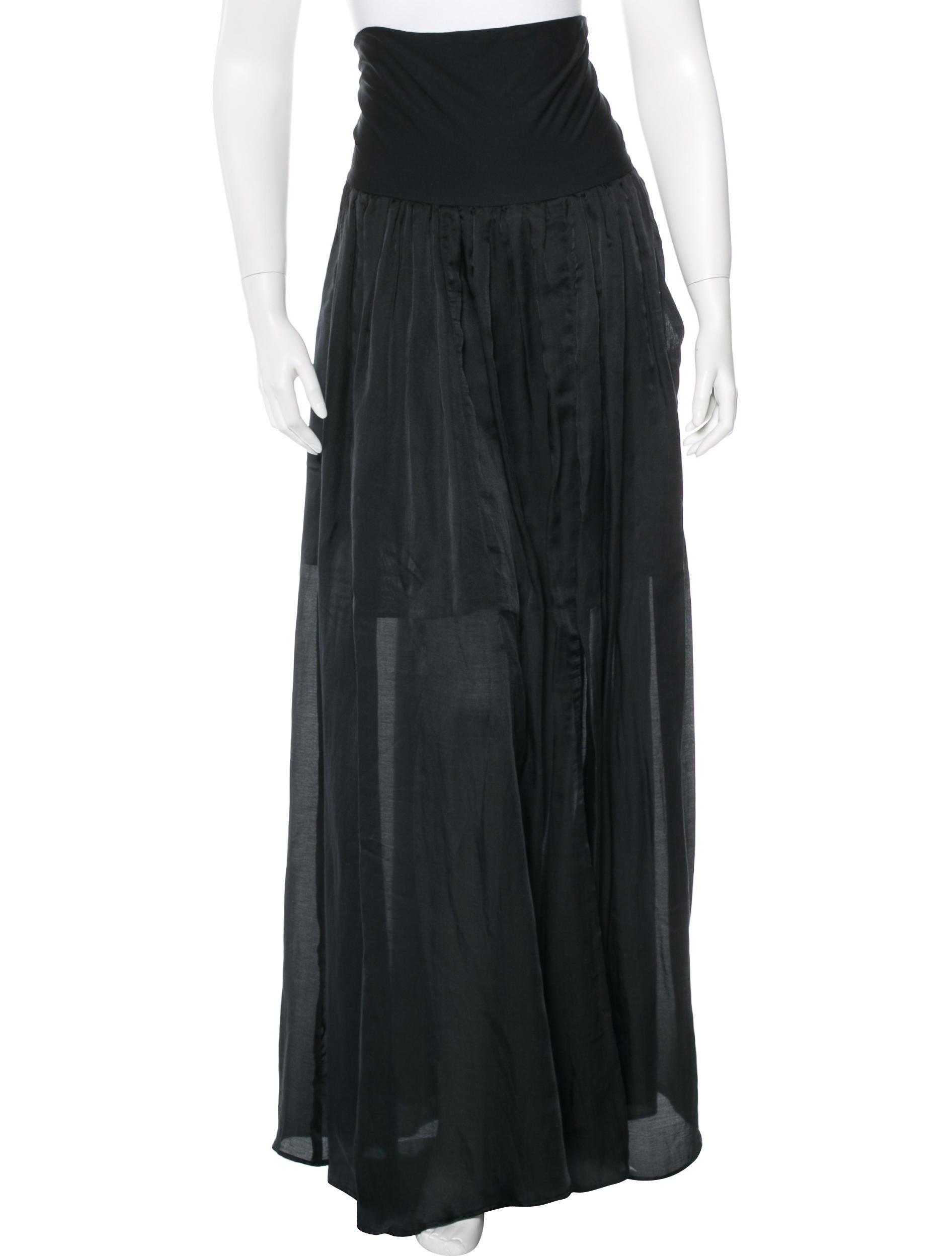 theyskens theory pleated maxi skirt clothing